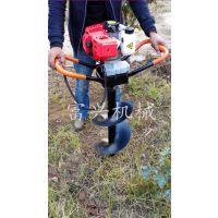 苗圃植树挖坑机 富兴手提式汽油钻孔机 大马力汽油挖坑机