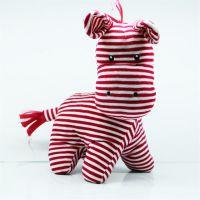可爱儿童动物玩偶红色斑马公仔可来图设计打样