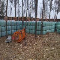 新款养殖设备牧草饲料青储打捆机 青贮打捆包膜一体机