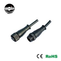 IP67防水接头 金属注塑防水插头M20-3P 3芯 电缆防水插头厂家直销