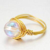欧美外贸eBay 速卖通 水晶戒指 女 手工饰品 戒指