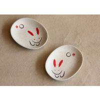 日式餐具 陶瓷碟子 酱料碟 可爱碟 芥末跌 碟子 出口