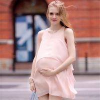 2015欧美夏季新款雪纺拼接舒适衣服连衣裙孕妇装