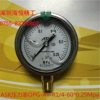 总代理ASK甘油压力计OPG日本原装进口60mm/75mm/100mm直径系列