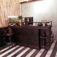 美式复古铁艺酒吧台网咖酒店前台服装店收银台咨询台接待台