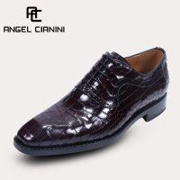 品牌直销鳄鱼纹男皮鞋 商务正装真皮大底高档厚底单鞋一件代发
