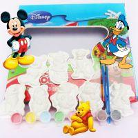 卡通迪士尼米奇老鼠上色涂色益智DIY彩绘石膏套装 丙烯颜料