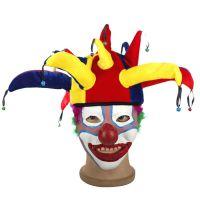 儿童节卡通马戏团小丑帽子面具万圣圣诞节春节演出化妆面具批发