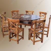 促销 实木火锅餐桌椅 韩式餐厅无烟火锅电磁炉餐桌 厂家定做
