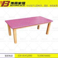 邛崃幼儿园课桌椅 实木学习桌椅