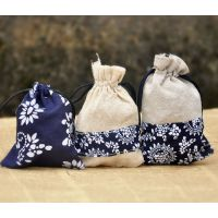 首饰包装 纯手工青花布袋 饰品包装 厂家直销可伸缩布袋包装批发.