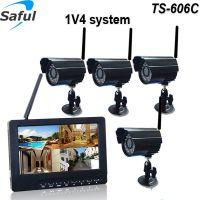 Saful家用录像夜视7寸高清彩色显示器无线监控摄像头设备TS-606C