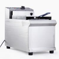 现货供应901单缸炸锅炸薯条鸡柳商用快速油炸锅小吃设备电油炸炉