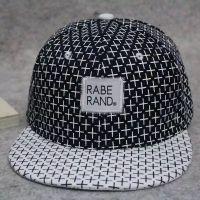 夏季格子十字架平沿帽子棒球帽女男士韩版潮 rabe rand嘻哈帽