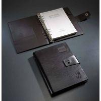 企业活动皮面商务笔记本现货记事本烫金西安印刷LOG批发