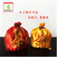 茂澐纺织厂家直销 金黄色 、红色绸缎茶叶袋 民族风格束口七子饼茶叶袋