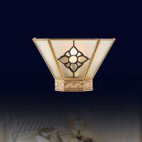 全铜焊锡壁灯 灯具特价批发 欧式壁灯 B0003卡莎图玻璃壁灯