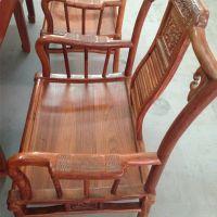 红木家具*非洲亚花梨红木椅子 实木椅子 美鸿程中式靠背红木椅子