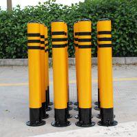 中山镀锌管立柱 警示柱批发 固定防撞柱现货供应