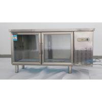 上海不锈钢冷柜厂家玻门平冷操作台酒店厨房商用冷藏保鲜工作台艾豪思品牌冷柜型号TZO.4U2