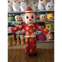 绿和卡通包邮财神卡通人偶服装猴年吉祥物人偶猴子卡通人偶服饰行走玩偶服