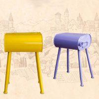 海德利厂家定制 美式复古创意餐椅 LOFT工业风金属铁艺餐椅 批发