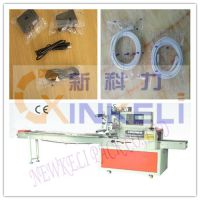 新科力1米长电源线枕式自动包装机,KL-350D电源线自动封口打包机