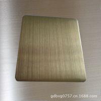 香槟金拉丝不锈钢板,高品质不锈钢真空钛金板