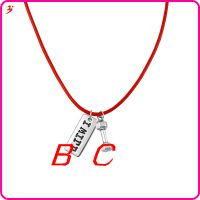 时装设计哑铃魅力我将字母吊坠项链红色链珠宝配饰