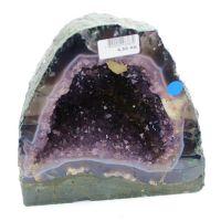 万汇 纯天然紫水晶洞紫晶洞摆件水晶簇原矿紫水晶聚宝盆消磁石钻