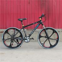 力途豪华版21速铝合金一体轮山地自行车/双碟刹变速厂家直销批发