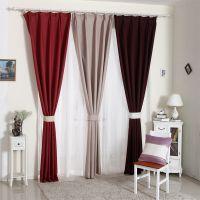 现代简约客厅棉麻亚麻布纯色窗帘成品定制温馨飘窗窗帘布料