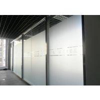 深圳龙华尚美创客大厦写字楼玻璃磨砂贴纸水晶字安装