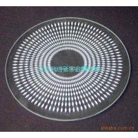 供应丝网印刷圆形钢化灯具玻璃生产加工