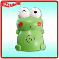 厂家供应可录音青蛙 卡通迎宾器 感应门铃 青蛙光控感应迎宾器
