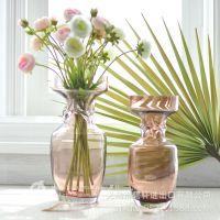 bixuan样板房酒店会所高档欧式家居装饰摆件米娜费琥珀色玻璃花瓶