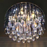 现代水晶吸顶灯批发 LED低压平板水晶灯 圆形卧室客厅贴片吸顶灯