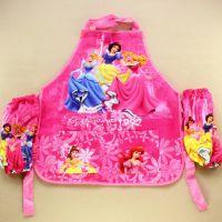 迪士尼 白雪公主围裙带袖套snow white儿童绘画沙滩玩玩必备 小号