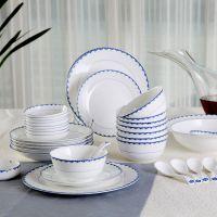 雪地陶瓷36头骨质瓷餐具-百年好合