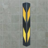 黑龙江哈尔滨厂家直销地下停车场设施橡胶护墙角 反光护角 橡胶防撞条 墙角保护条 交通设施批发