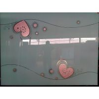 烤漆冰花衣柜门玻璃 5mm 钢化玻璃 超白烤漆3D5D玻璃