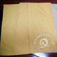 厂家专业批发 黄色涤纶 45*45cm 珠纹口布 餐厅酒店桌布 餐巾