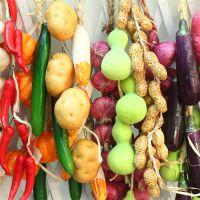 厂家特价销售仿真水果蔬菜串 农家乐田园装饰 葡萄藤