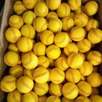 深圳兴宏发定制70MM棒球 黄色红线环保PU球 多尺寸握力球定制