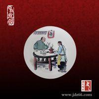 金大碗面馆装饰瓷盘和陶瓷花瓶订制