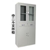 中二斗双节柜文件资料柜档案铁皮柜钢制办公柜抽屉柜