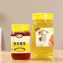 宏华来样生产直通园蜂蜜瓶550毫300克