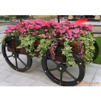 舒纳和户外具厂售广场景观花车 种植花箱 户外花箱炭化