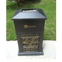 舒纳和户外家具厂优质的铸铝垃圾桶 别墅仿古铜垃圾箱
