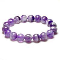 *天然水晶 紫水晶手链10mm聚宝盆 手链 正品 巴西紫晶